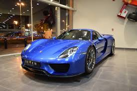 Porsche 918 Blue - glamorous blue porsche 918 spyder is our type of hypercar