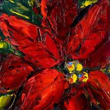 daily painters of texas christmas color palette knife paintings