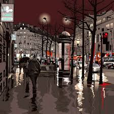 Paris Wall Murals Paris At Night Wallpaper Wall Mural Wallsauce Usa