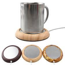 best coffee mug warmer walnut wood grain usb cup warmer pad coffee tea milk hot drinks