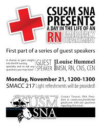 Er Nurse Responsibilities Csusm Student Nurses Association