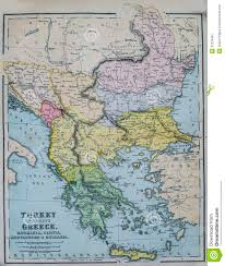 Map Of Greece And Turkey by Antique Map Of Turkey And Greece Royalty Free Stock Photography