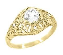 antique gold engagement rings vintage yellow gold engagement rings antique jewelry mall