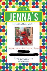 sesame street party invitations blueklip com