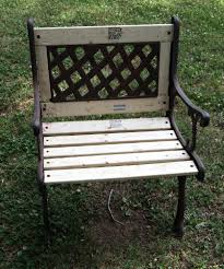how to rebuild and restore a cast iron garden bench and chair