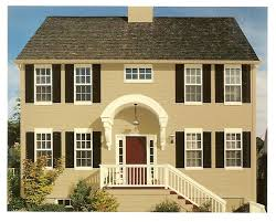 exterior paint color combinations the butter cream with black