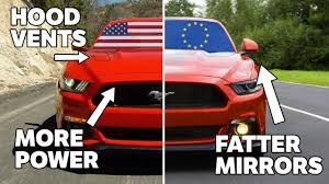 difference between ford focus models 10 differences between us and european mustangs
