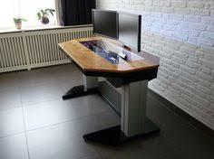 Ana White Sawhorse Desk Adjustable Custom Computer Desk Mod Fit For A True Geek Computer