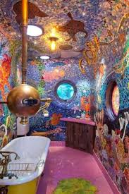 theme bathroom kids bath rooms cool underwater themed kid s bathroom design