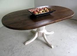 oval pedestal dining table oval racetrack table with fluted pedestal farmhouse dining oval