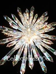christmas giant prelit crystal tree topper star huge stunning