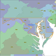 Map Of Maryland State by Maryland Area Code Maps Maryland Telephone Area Code Maps Free