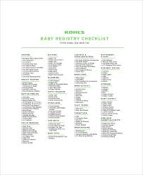 kohl wedding registry baby gift registry checklist 5 free pdf documents
