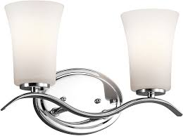 Kichler 45375chl16 Armida Modern Chrome Led 2 Light Bathroom Chrome Bathroom Light Fixtures