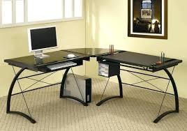 computer desk glass metal z line glass desk z line l desk z line glass l shaped computer desk