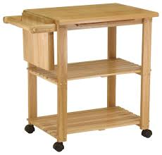 wood kitchen island cart beech kitchen cart with cutting board knife block and shelves