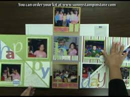 photo albums scrapbooks happy birthday flip n fold mini scrapbook album