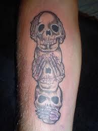 simple evil tattoo no evil see no evil speak no evil tattoo