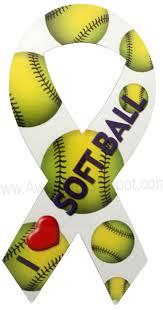 softball ribbon i softball ribbon magnet awarenessdepot