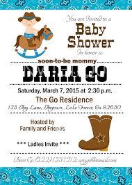 design cowboy baby shower invitations