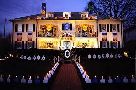 hanukkah lights decorations chanukah house lights up baltimore behrman house publishing