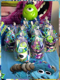 Halloween Birthday Party Ideas Pinterest by Likos Party Favors Monsters Inc Monsters University Theme