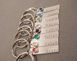 personalized birthstone keychains 5 puzzle keychain set family keychain set bridesmaid