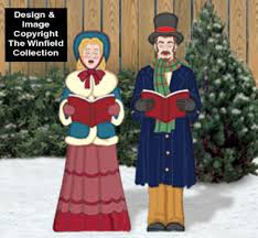 Christmas Yard Decorations Carolers by All Christmas Victorian Caroling Couple Pattern