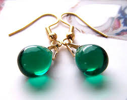 green earrings teardrop earrings green earrings forest green earring