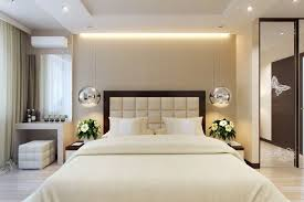 Comfy Bed Ceiling Lamp Glass Door Wooden Floor Interior Bedroom - Sophisticated bedroom designs