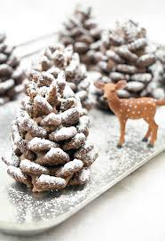 edible treats and easy snowy chocolate pinecones recipe