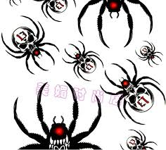 wicked skull spider tattoo stencil photos pictures and sketches