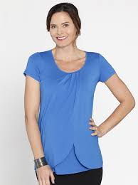 nursing top petal front sleeve nursing top blue angel