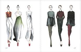 sketches from top russian fashion designers published in new book