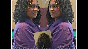 ripple hairstyle crochet braids using kima ripple deep hair install youtube