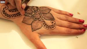 tattoos design on hand leafy floral henna mehandi designs video learn how to draw