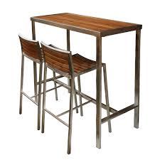 High Bar Table Evolve High Bar Table Evolve Teak Stainless Range Jardin