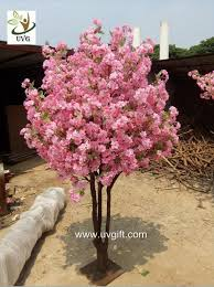 uvg miniature cherry blossom tree artificial trees indoor with pink