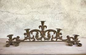 vintage heavy cast iron candle holder spanish gothic home decor