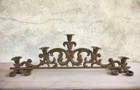 vintage heavy cast iron candle holder spanish gothic home decor