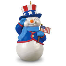 american patriotic snowman ornament keepsake ornaments hallmark