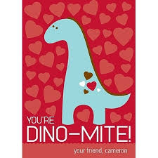 kids valentines day cards dinosaur themed s day cards