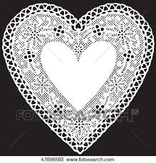 heart doily clipart of antique white lace doily heart k7856593 search clip