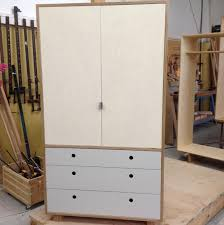 Bedroom Furniture New Zealand Made Free Standing Wardrobe Made In Birch Plywood With Lino Drawer