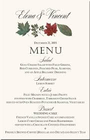 menu card templates winter theme wedding menu cards snowflake wedding menu cards