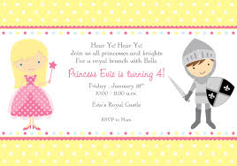 princess and knight party invitations cimvitation
