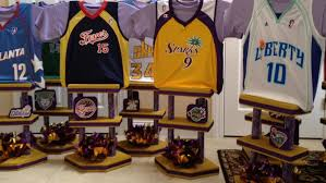 basketball centerpieces jerseythemes custom sports jersey centerpieces it up