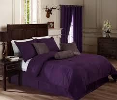 Purple Velvet Comforter Bedroom Dark Plum Ruffle Comforter Set Combined Rounded White