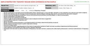 Respiratory Therapist Resume Samples Best Respiratory Therapist Resume Template Within 17 Awesome