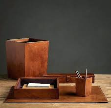 Leather Desk Organizers Desk Organizer Sets Personalized Desk Accessories Desktop